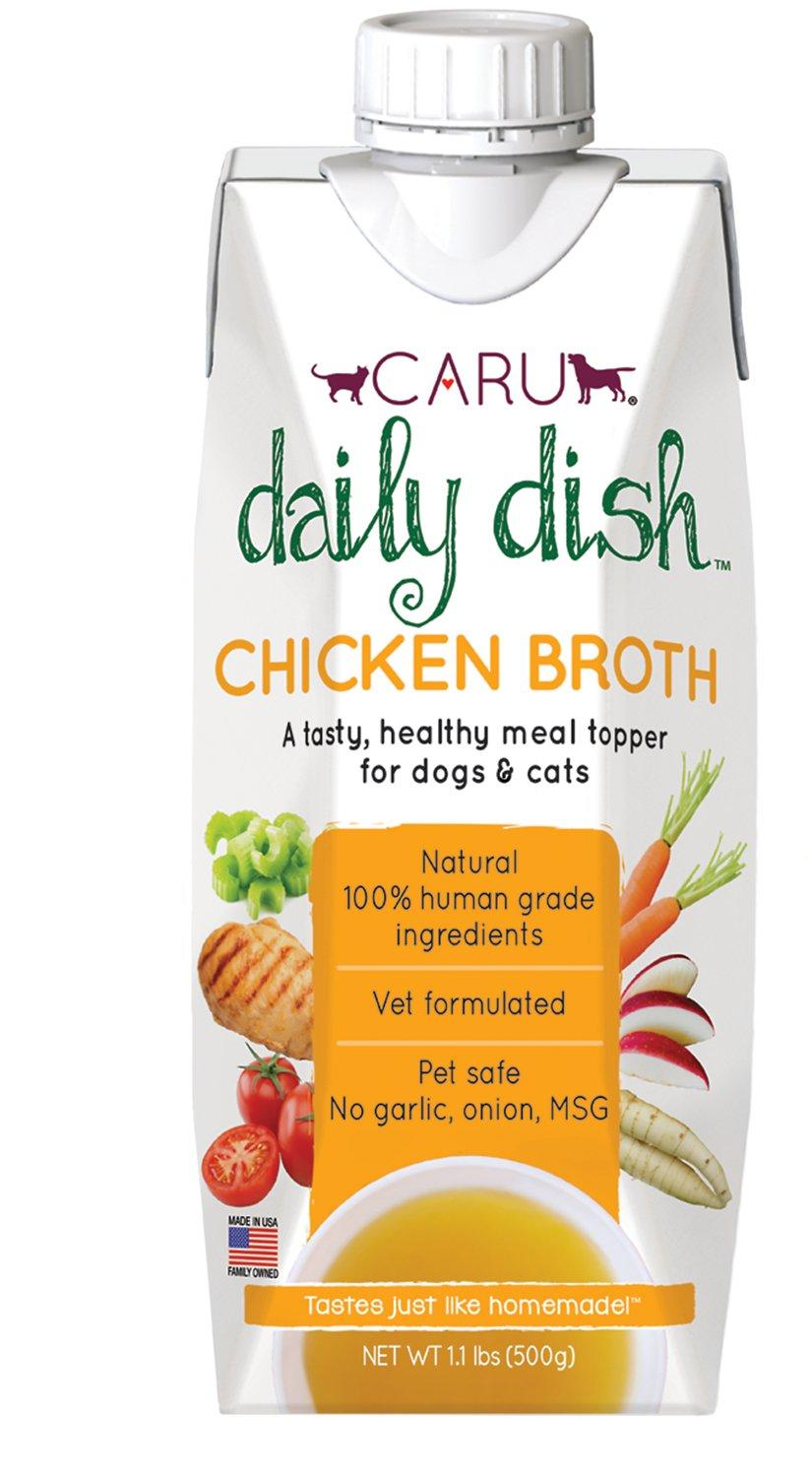 Caru Daily Dish Chicken Broth Dog & Cat Wet Food Topper, 1.1-lb