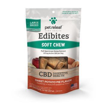 Pet Releaf Edibites Soft Chew Digestive Health Sweet Potato Large Breed Dog Supplement Image