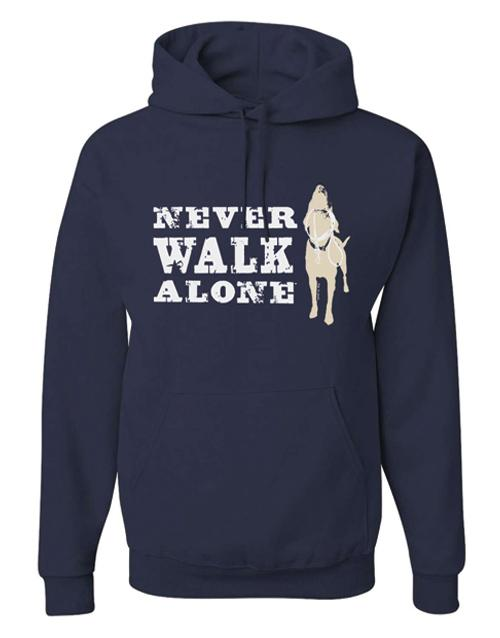 Dog Is Good Never Walk Alone Hoodie, X-Large