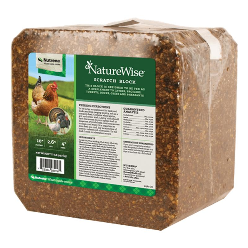 Nutrena NatureWise Scratch Block Poultry Supplement, 21-lb