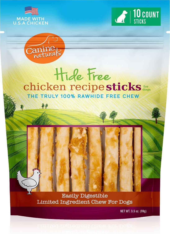 Canine Naturals Hide Free Chicken Sticks Dog Treats, 5-in, 10-pk