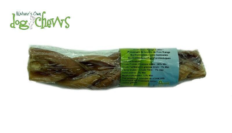 Nature's Own Dog Chews Triple Braided Angus Bully Sticks Dog Treats, 6-in