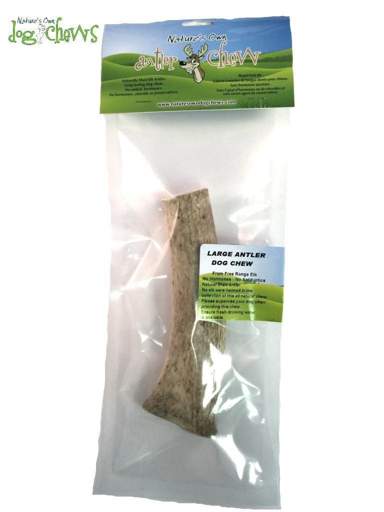 Nature's Own Dog Chews Elk Antler Dog Treats, Large