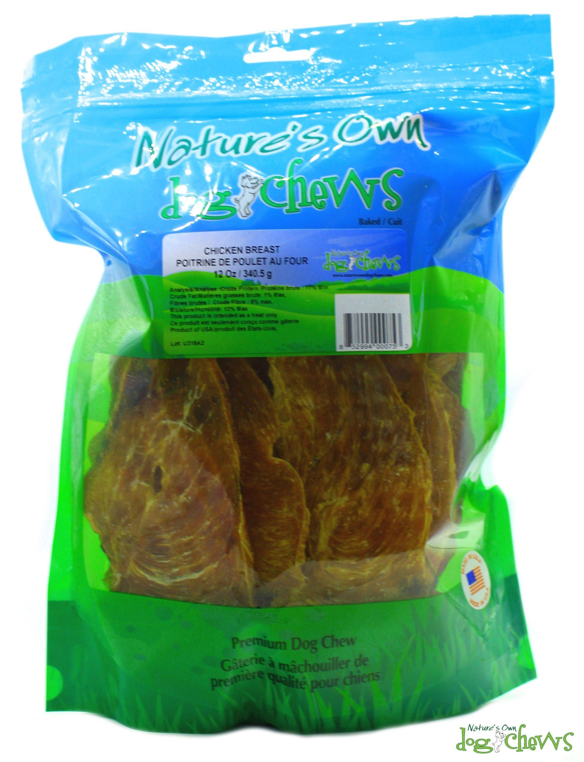 Nature's Own Dog Chews Chicken Breast Dog Treats, 12-oz
