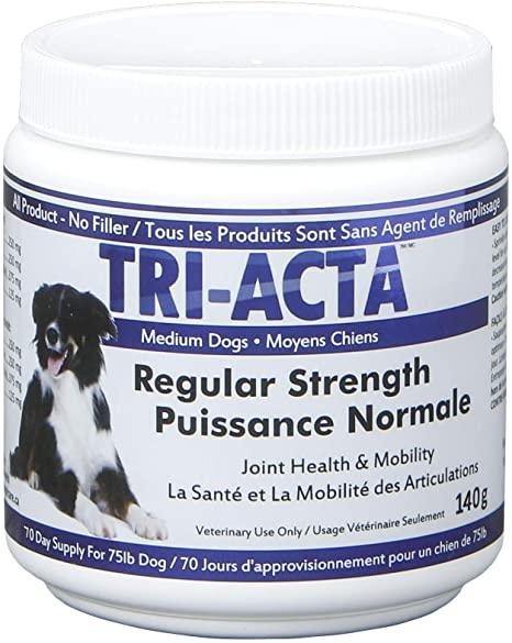 Tri-Acta Regular Strength Joint Health Supplement for Medium Dogs, 140-gram