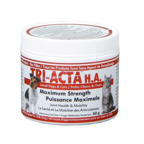 Tri-Acta H.A. Maximum Strength Joint Health Supplement for Small Dogs & Cats, 60-gram