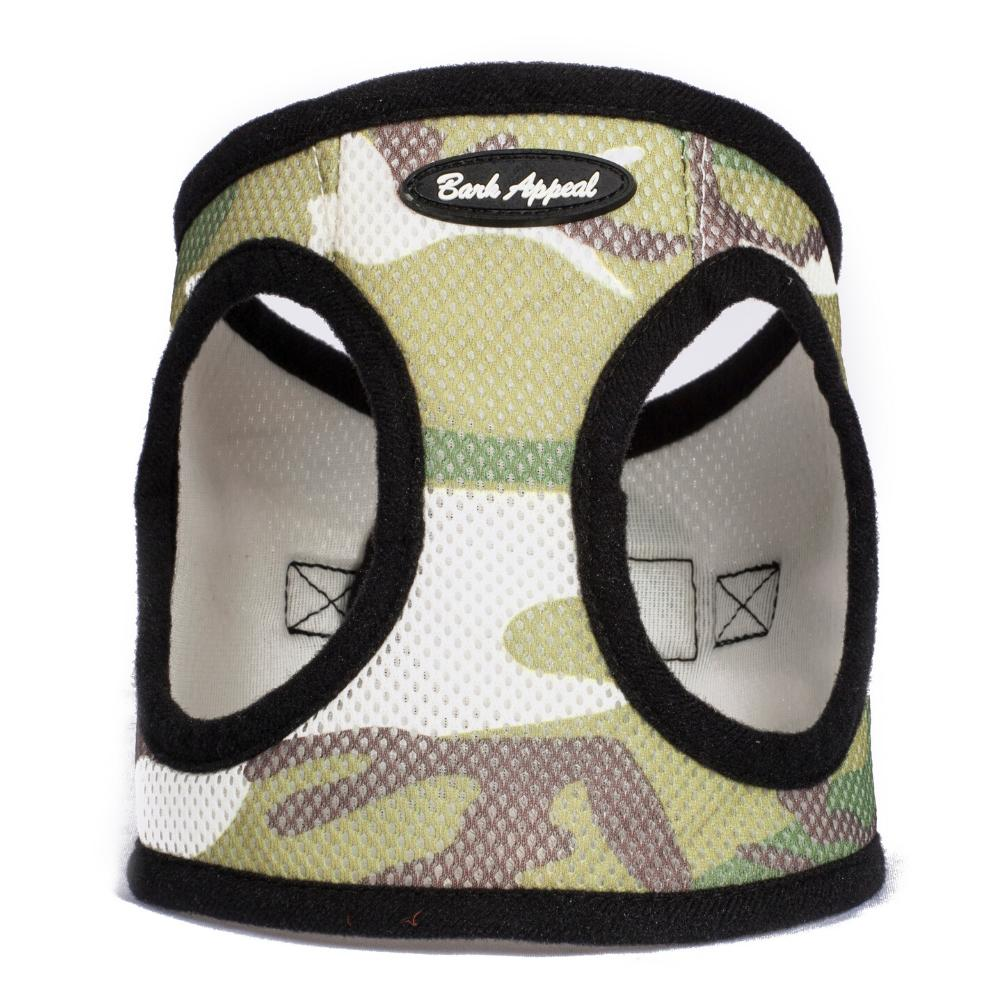 Bark Appeal Mesh EZ Wrap Step In Dog Harness, Camouflage, Small