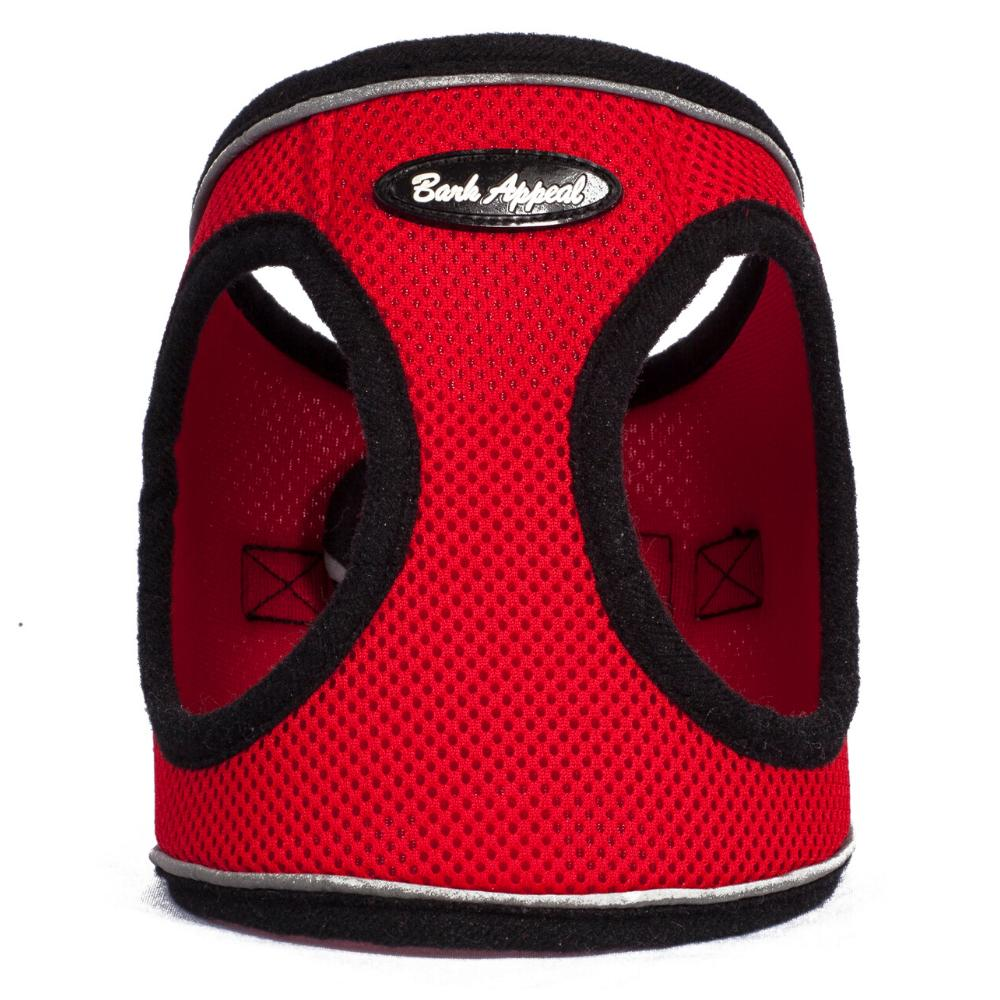 Bark Appeal Reflective Mesh EZ Wrap Step In Dog Harness, Red, X-Small