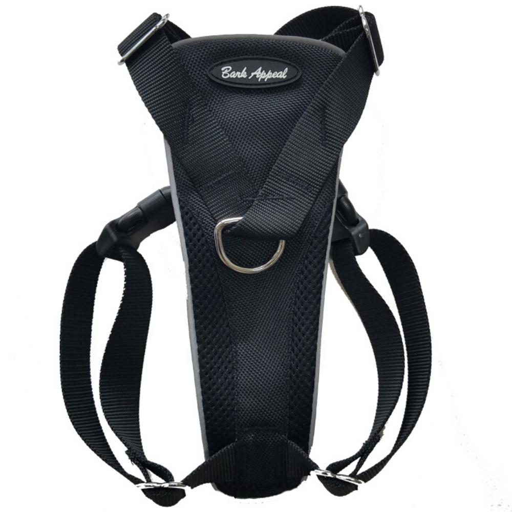 Bark Appeal Control Dog Harness, Black, Small