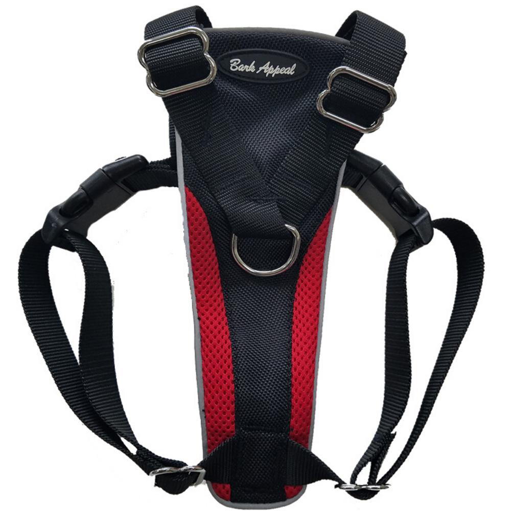 Bark Appeal Control Dog Harness, Red, Small