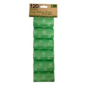 Bark Appeal Dog Waste Bags, Green, 120-count