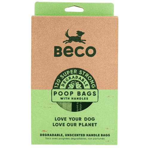 Beco Degradable Dog Poop Bags with Handles, 120-count