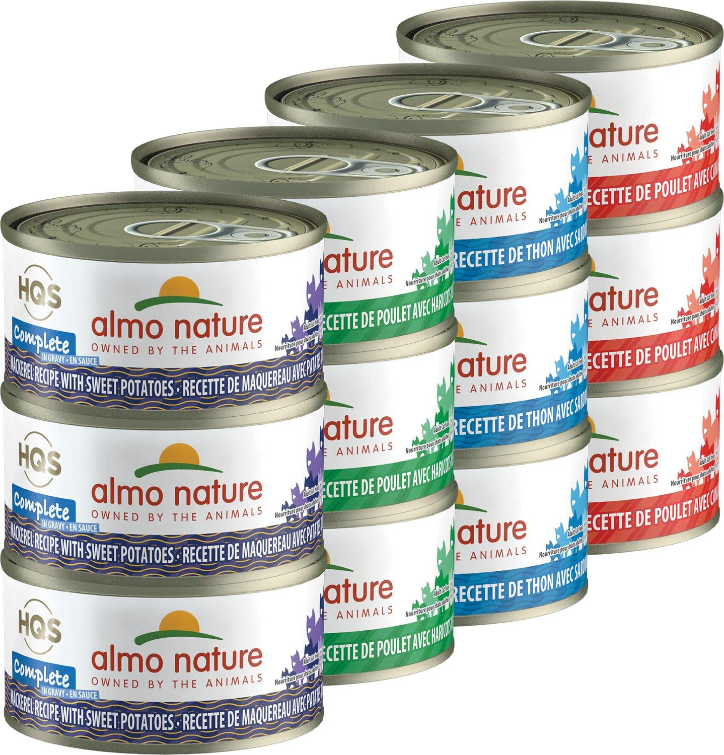 Almo Nature HQS Complete Cat Variety Pack Wet Cat Food, 2.47-oz, case of 12