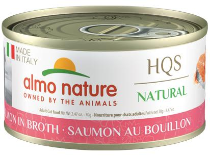 Almo Nature HQS Natural Made in Italy Salmon in Broth Adult Grain-Free Wet Cat Food, 2.47-oz