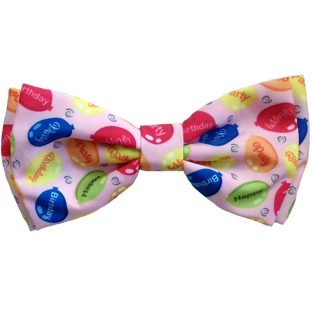 Huxley & Kent Party Time Dog Bow Tie, Pink, Large