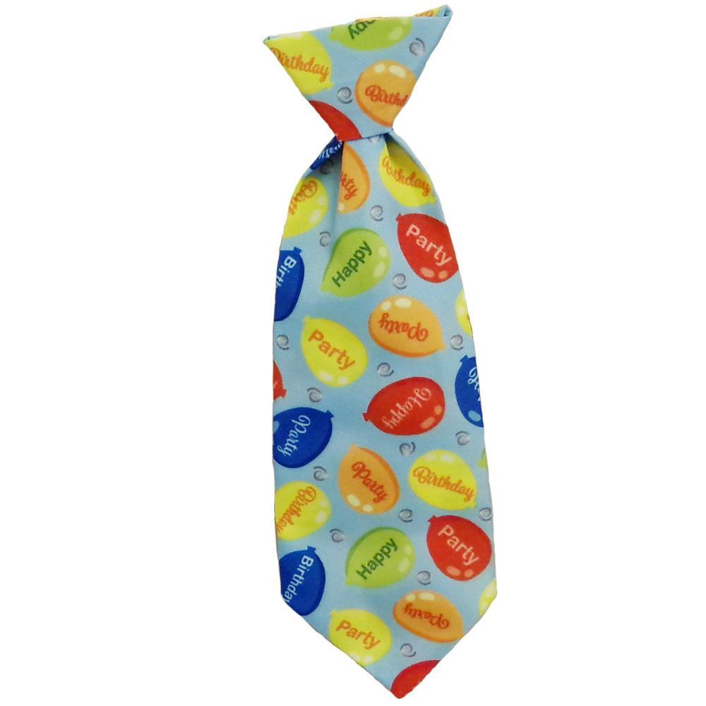 Huxley & Kent Party Time Dog Long Tie, Blue, Small