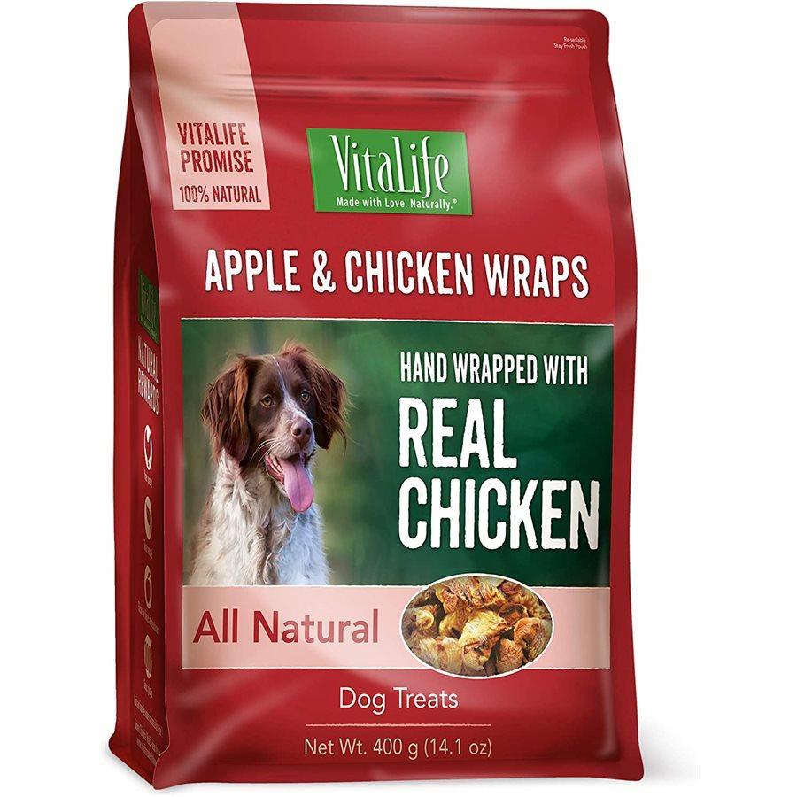 VitaLife Apple & Chicken Wraps Jerky Dog Treats, 400-gram