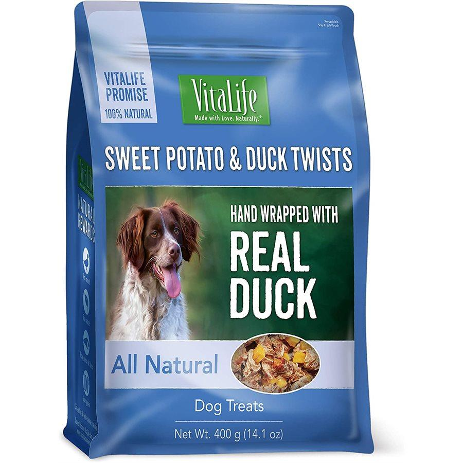 VitaLife Sweet Potato & Duck Twists Jerky Dog Treats, 400-gram