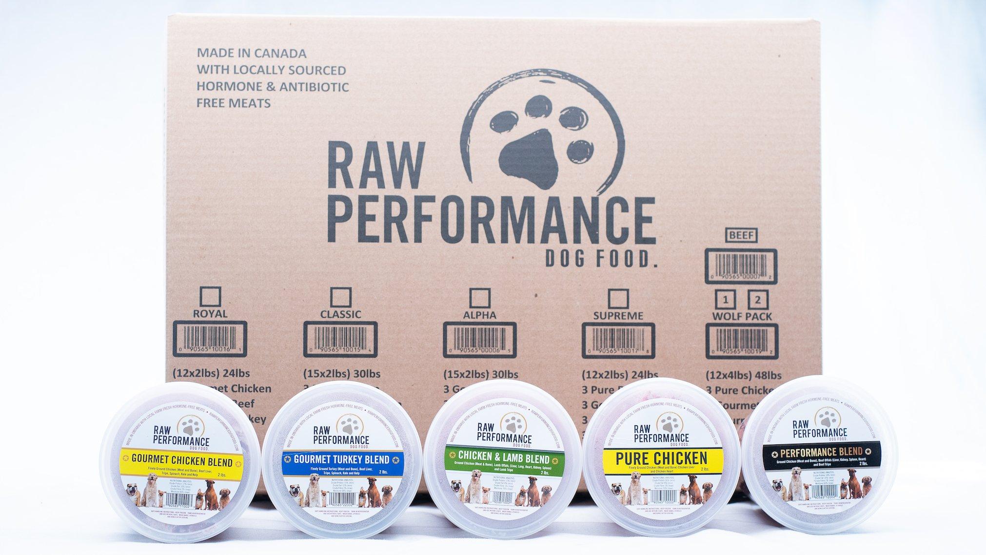 Raw Performance Variety Cases Classic 30-lb (15 x 2-lb) Dog Food