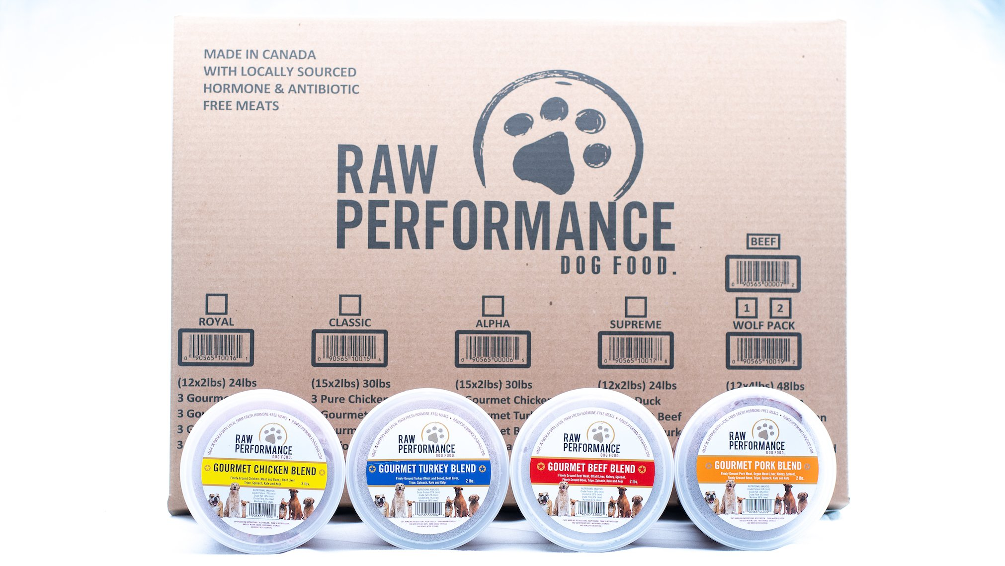 Raw Performance Variety Cases Royal, 24-lbs (12 x 2-lbs) Dog Food