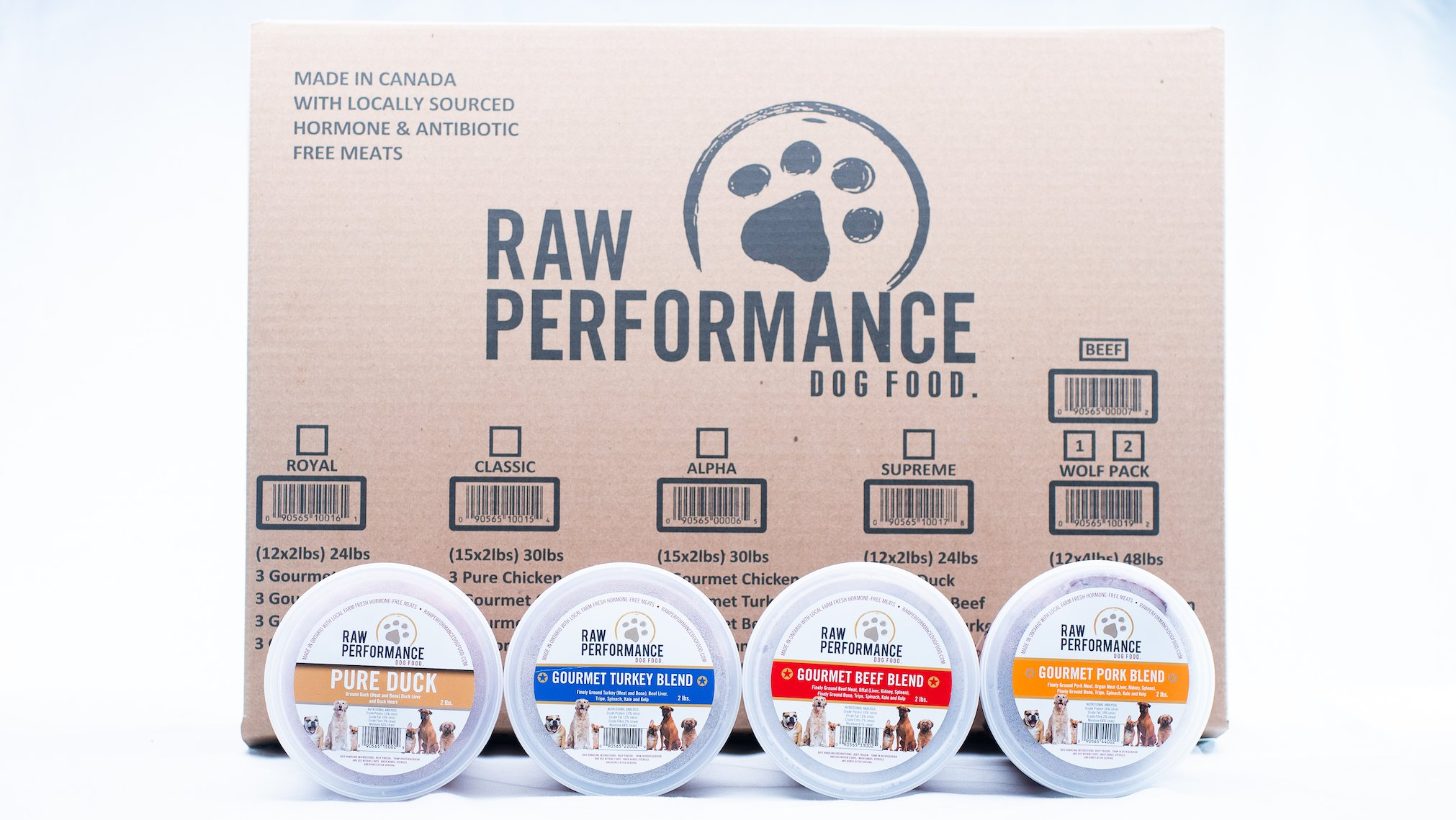 Raw Performance Variety Cases Supreme, 24-lbs (12 x 2-lbs) Dog Food
