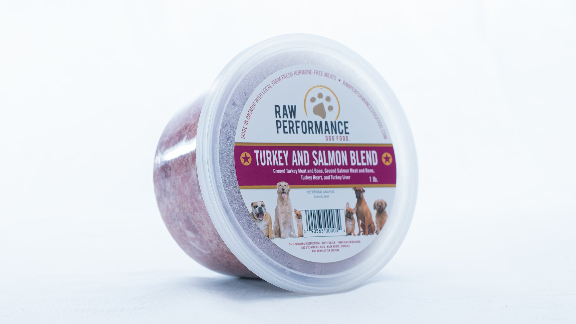 Raw Performance Specialty Blends Turkey & Salmon Blend Dog Food, 1-lb