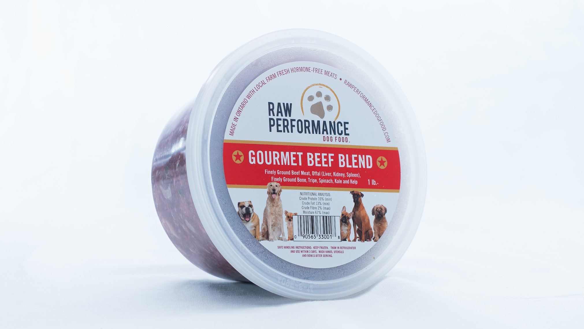 Raw Performance Gourmet Blend Beef Dog Food, 1-lb