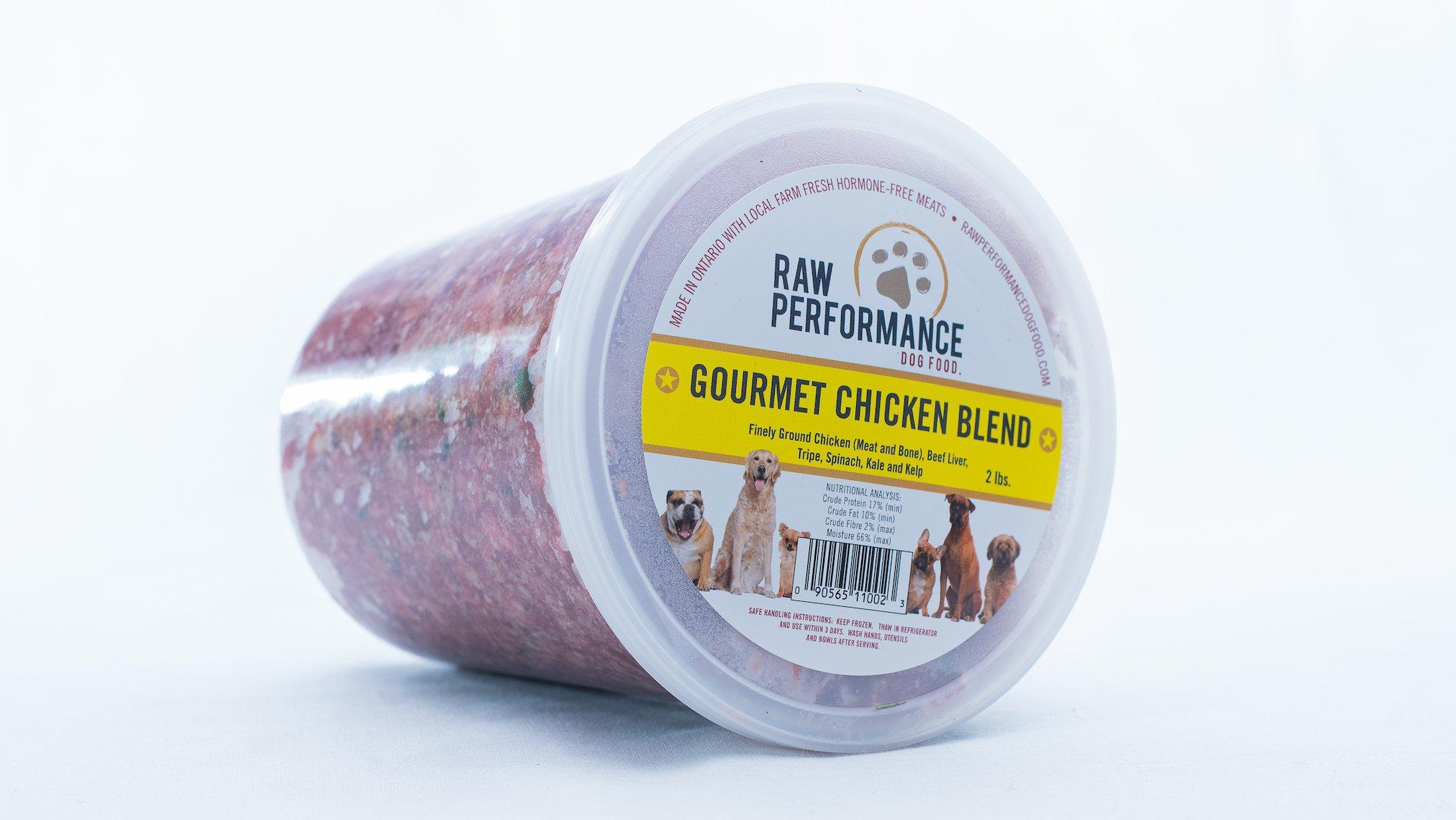 Raw Performance Gourmet Blend Chicken Dog Food, 2-lb