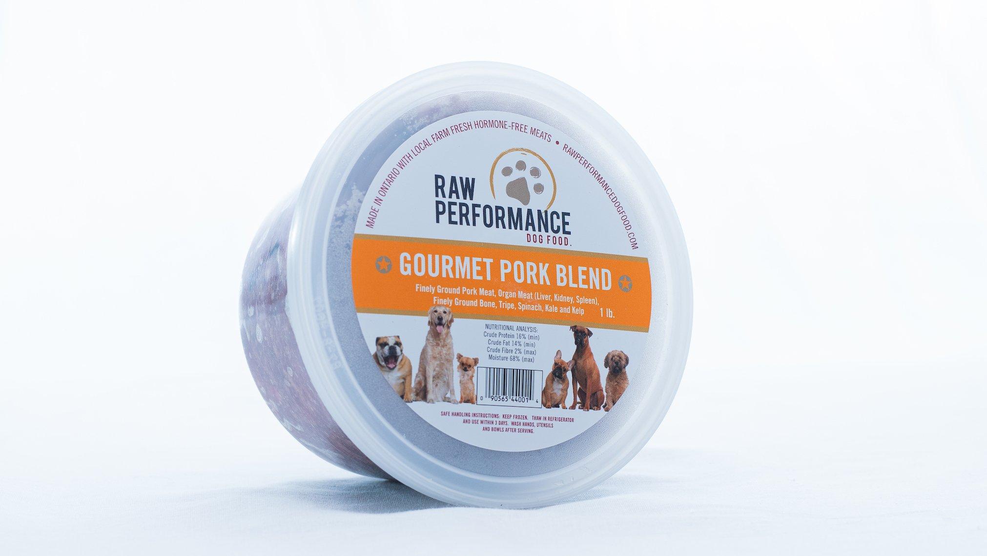 Raw Performance Gourmet Blend Pork Dog Food, 1-lb