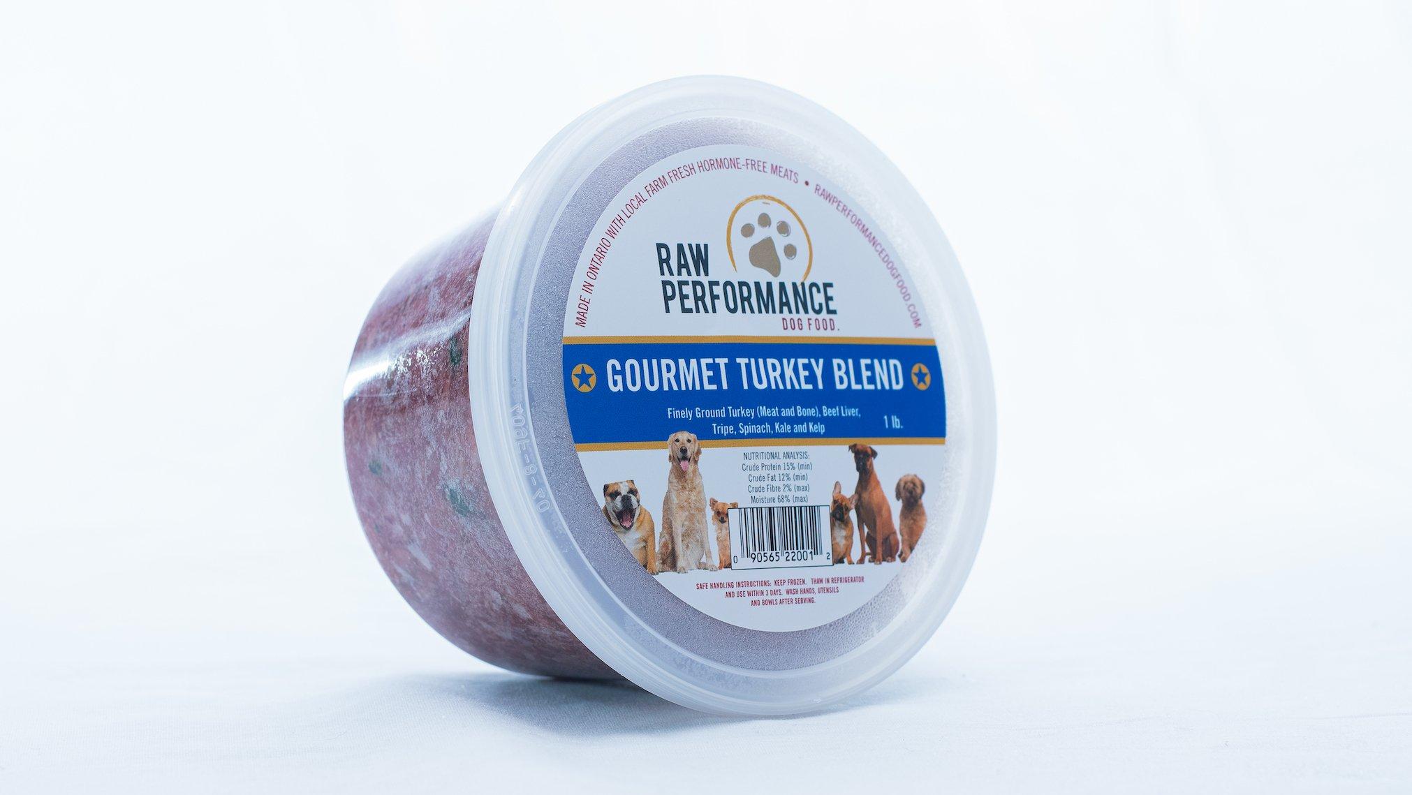 Raw Performance Gourmet Blend Turkey Dog Food, 1-lb