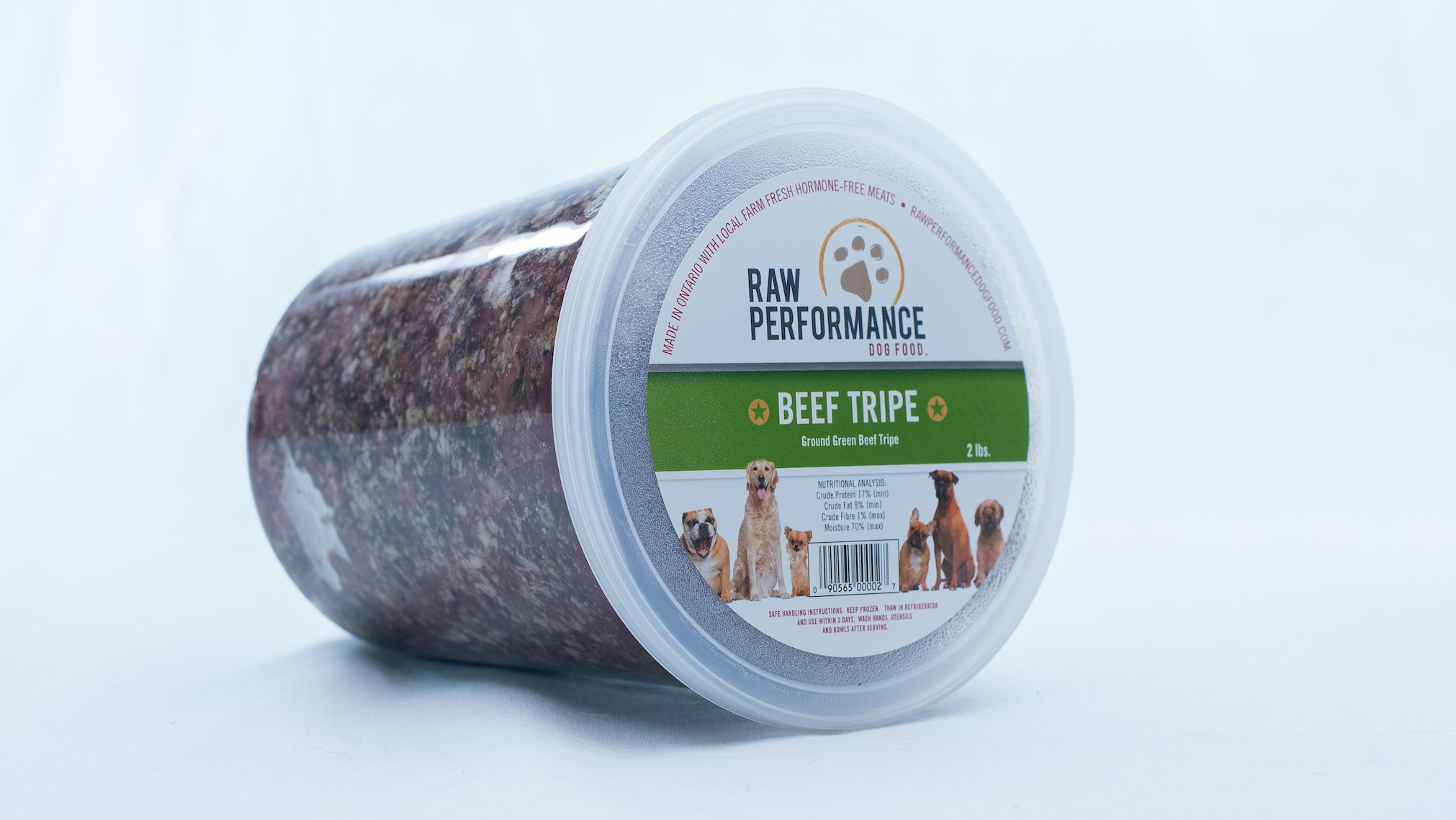 Raw Performance Specialty Blends Beef Tripe Dog Food, 2-lb