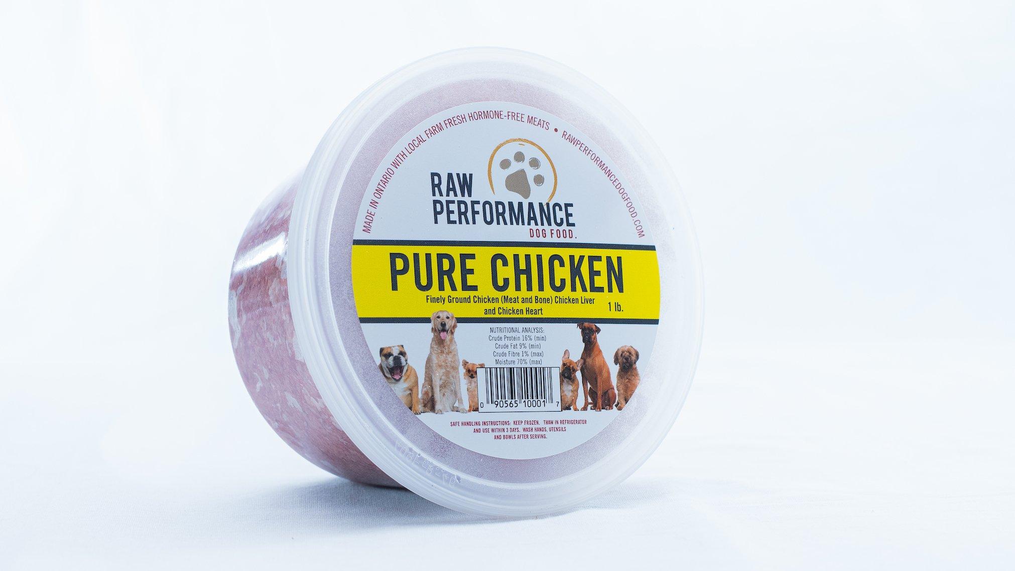Raw Performance Pure Chicken Dog Food, 1-lb