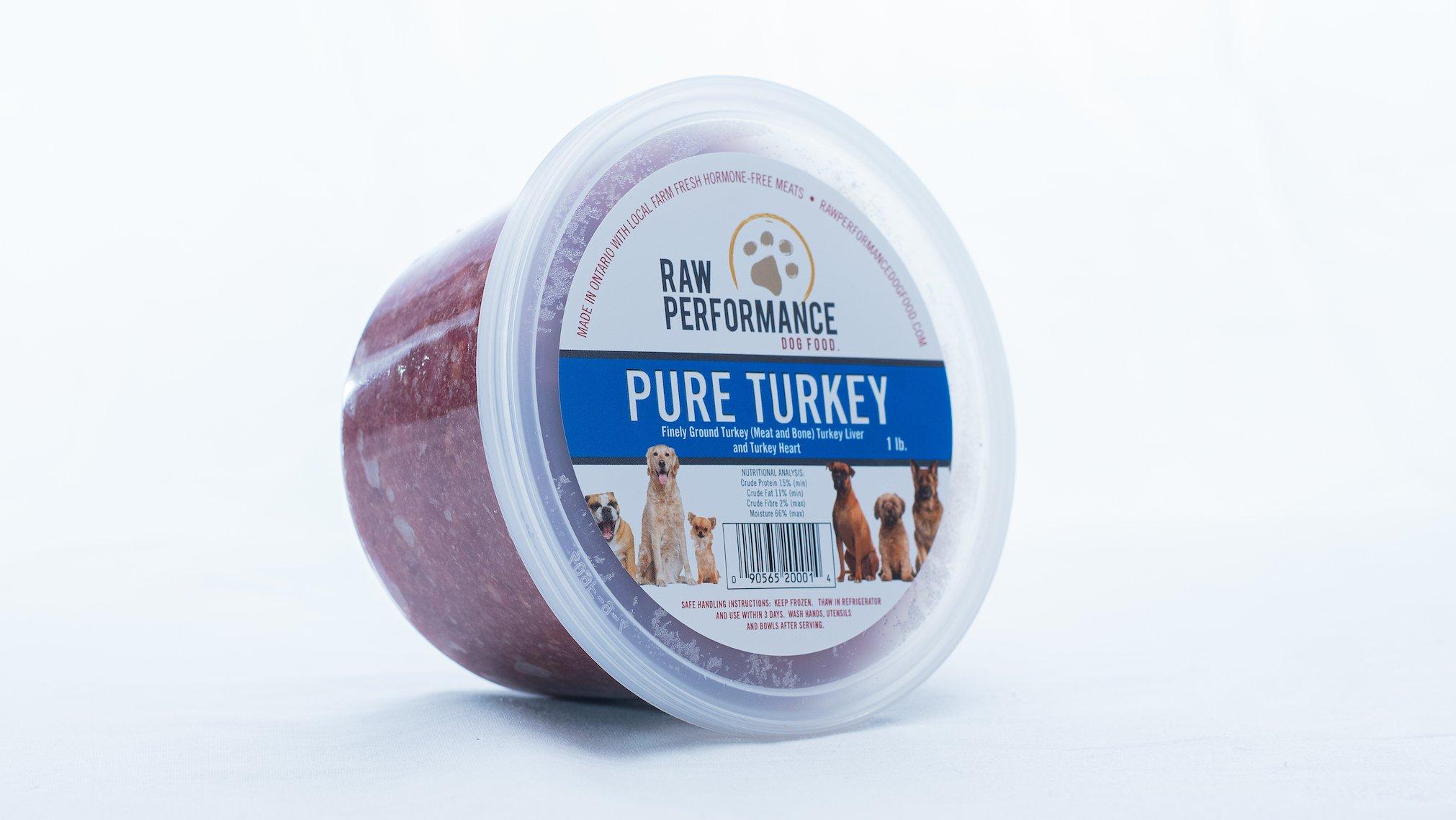 Raw Performance Pure Turkey Dog Food, 1-lb