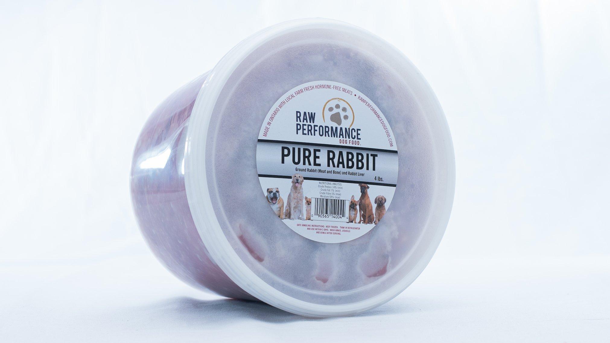 Raw Performance Pure Rabbit Dog Food, 4-lb