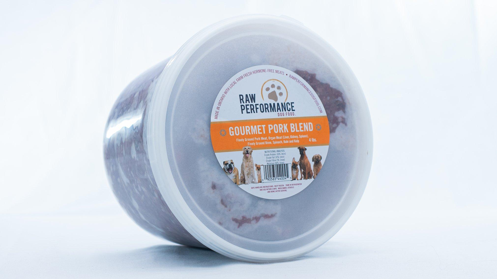 Raw Performance Gourmet Blend Pork Dog Food, 4-lb