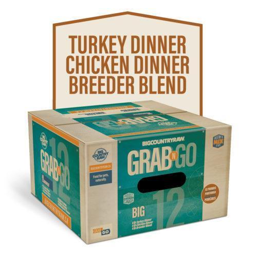 Big Country Raw Grab N Go Big Deal Frozen Dog Food, 12-lb