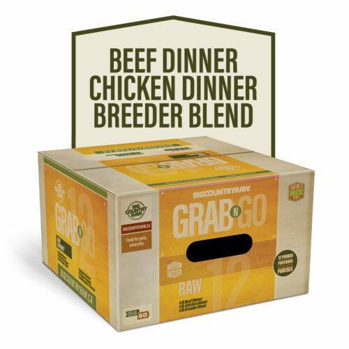 Big Country Raw Grab N Go Raw Deal Frozen Dog Food, 12-lb