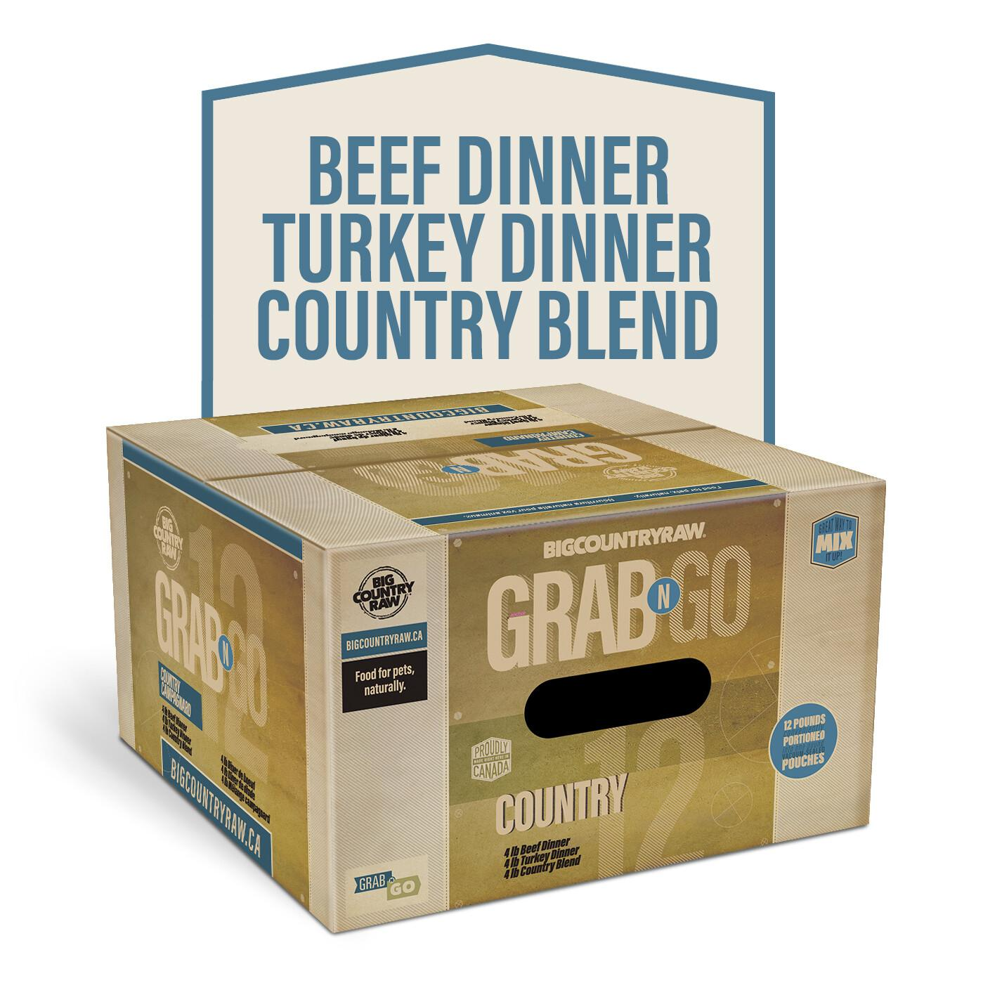 Big Country Raw Grab N Go Country Deal Frozen Dog Food Image