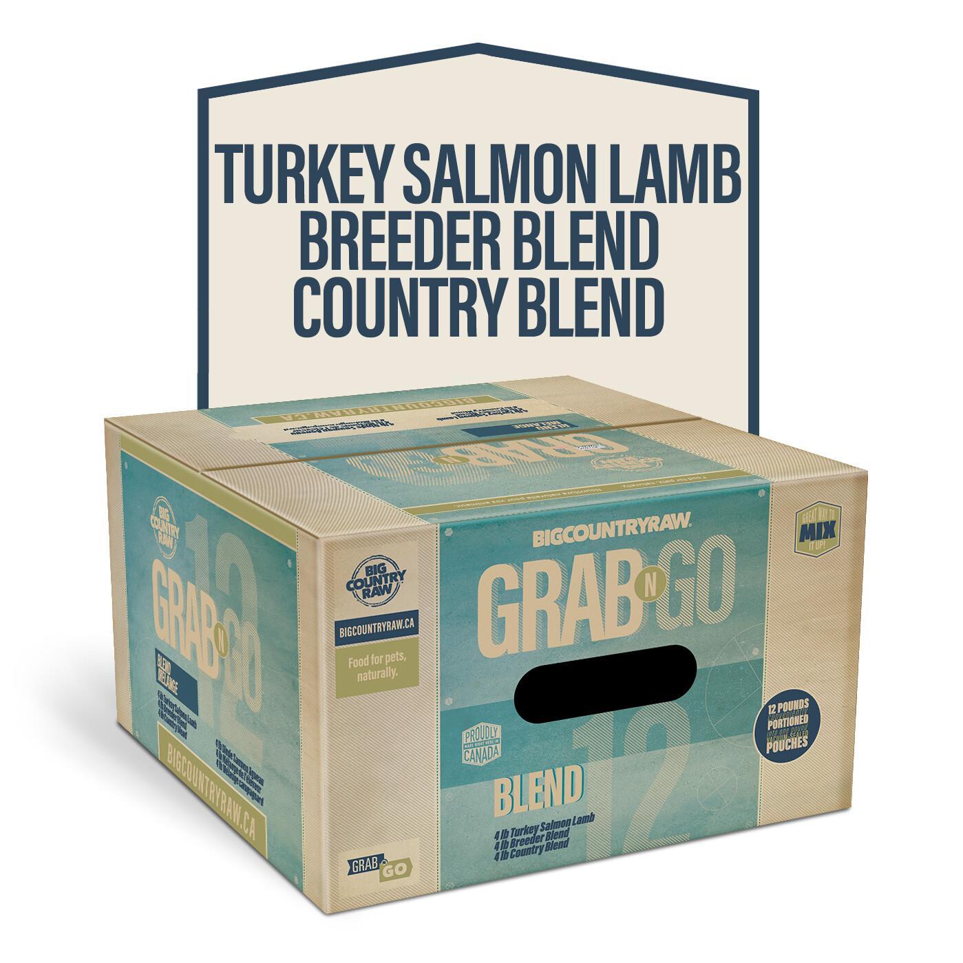 Big Country Raw Grab N Go Blend Deal Frozen Dog Food, 12-lb