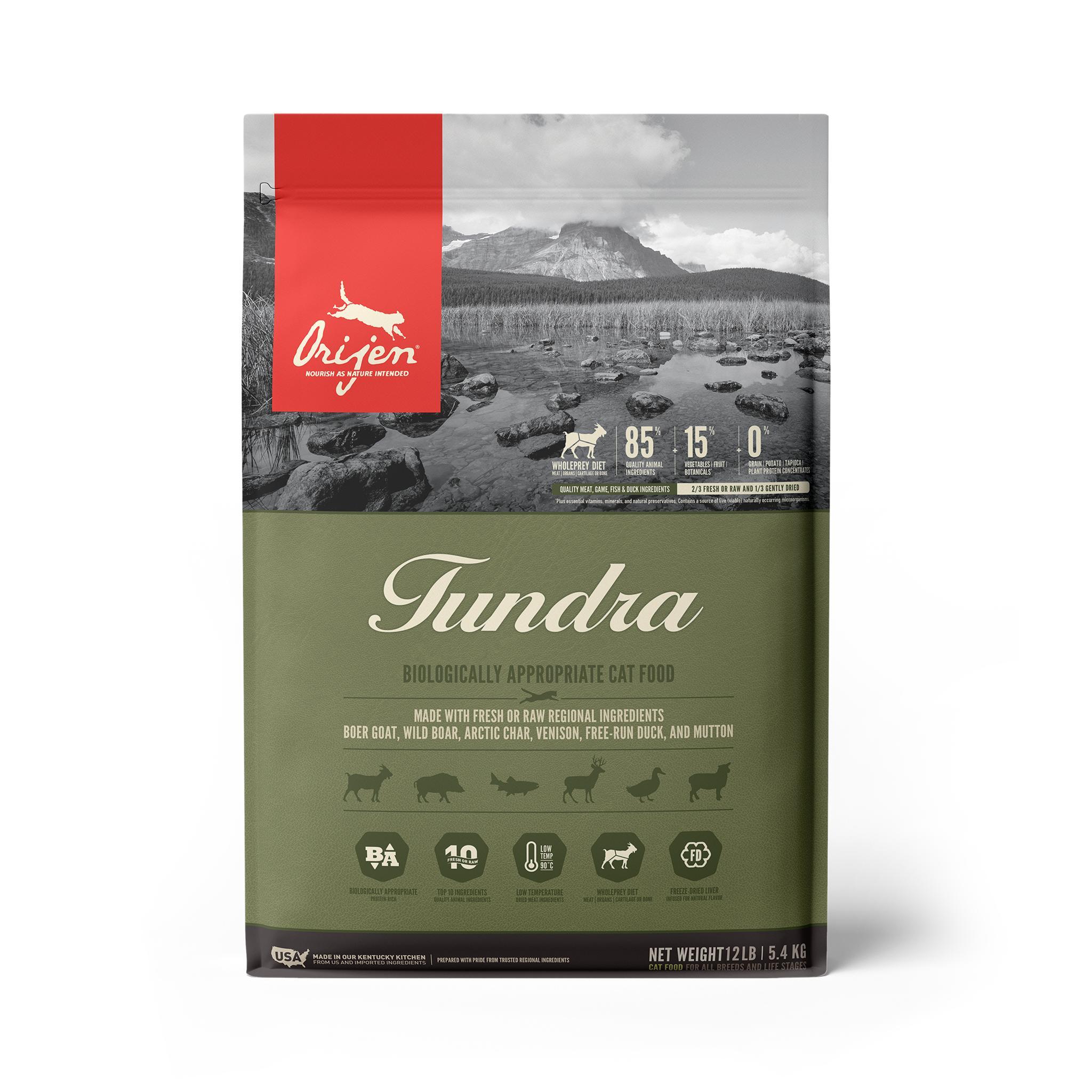 ORIJEN Tundra Grain-Free Dry Cat Food, 12-lb