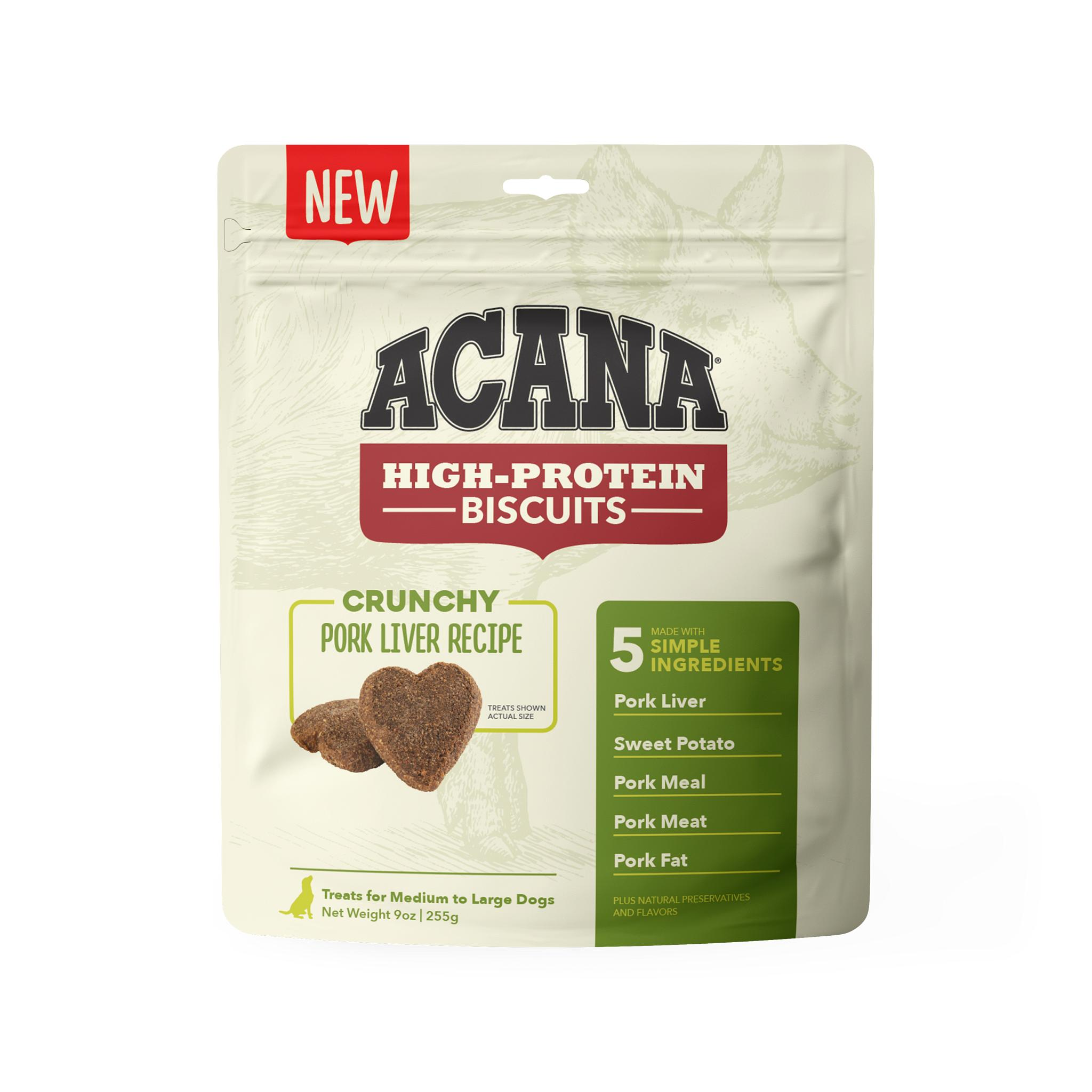 ACANA Crunchy Biscuits Pork Liver Recipe Dog Treats, Large