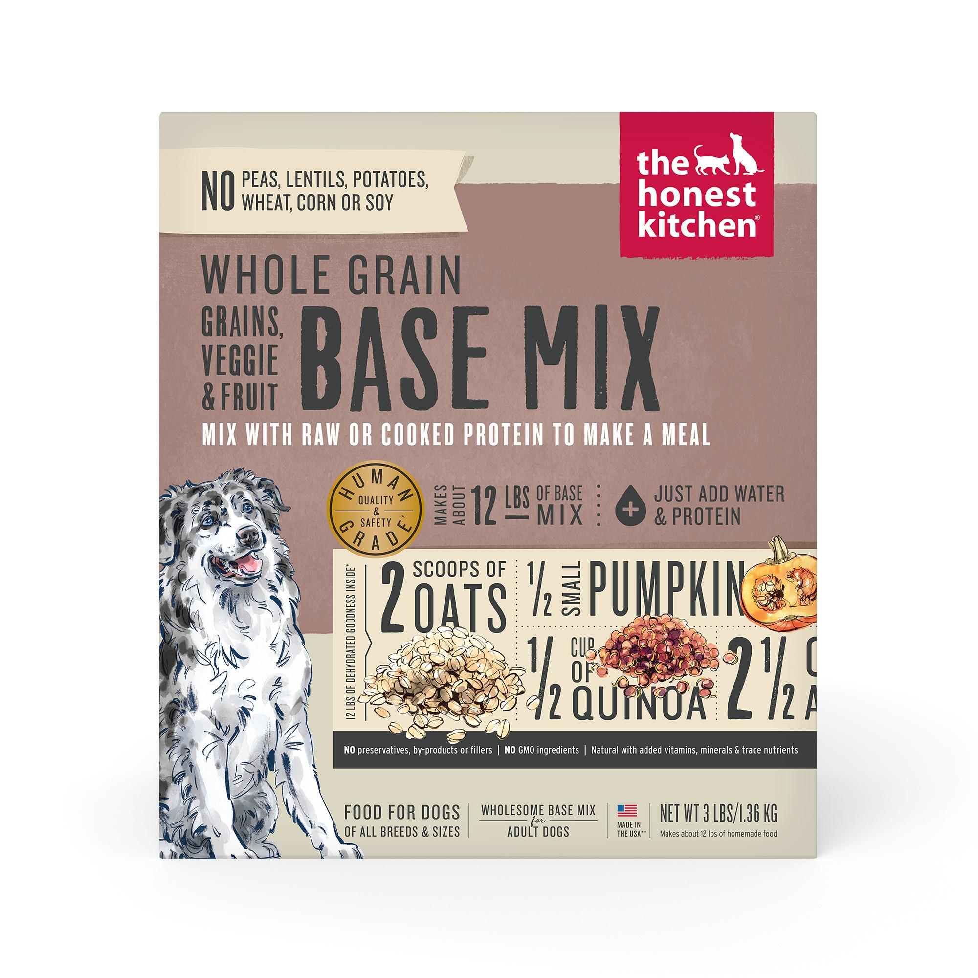 The Honest Kitchen Whole Grain Veggie & Fruits Base Mix Dehydrated Dog Food Image