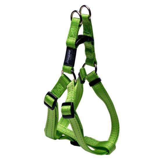 Rogz Snake Step-in Dog Harness, Lime, 5/8-in x 16-24-in