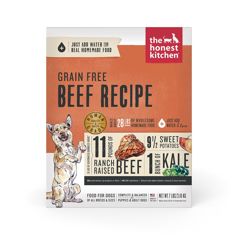The Honest Kitchen Beef Recipe Grain-Free Dehydrated Dog Food Image