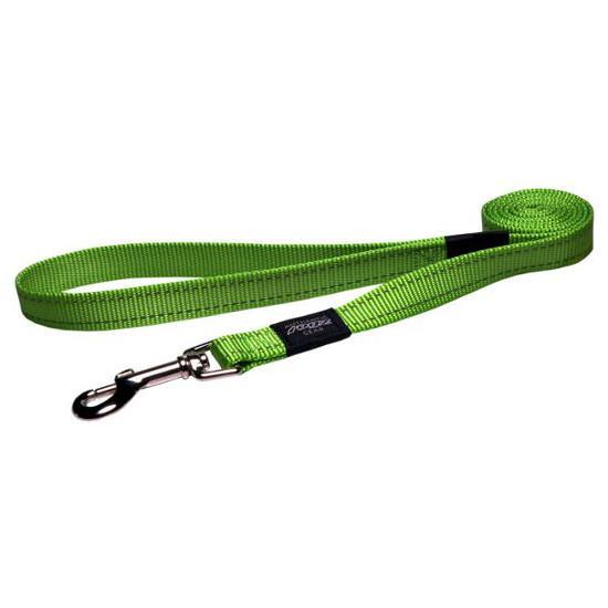 Rogz Fanbelt Dog Lead, Lime, 3/4-in x 6-ft