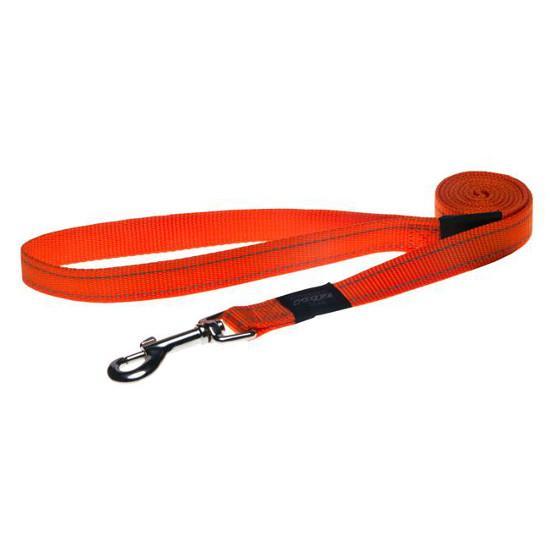 Rogz Fanbelt Dog Lead, Orange, 3/4-in x 6-ft