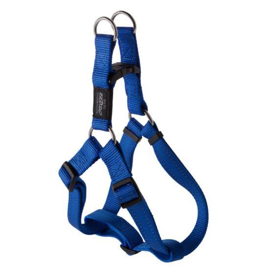 Rogz Fanbelt Step-in Dog Harness, Blue, 3/4-in x 21-30-in