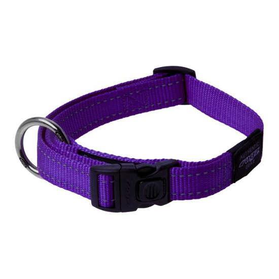 Rogz Lumberjack Clip Dog Collar, Purple, 1-in x 17-27-in