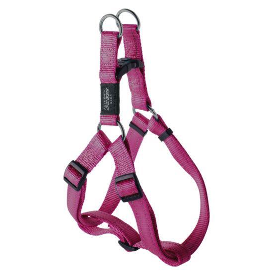 Rogz Lumberjack Step-in Dog Harness, Pink, 1-in x 26-40-in
