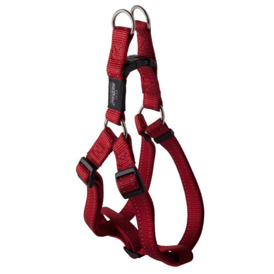 Rogz Lumberjack Step-in Dog Harness, Red, 1-in x 26-40-in